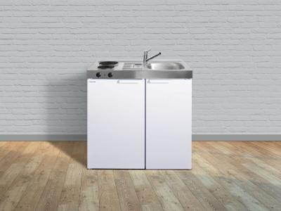 Miniküche MK 90 E-Pantry links Becken rechts