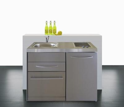 Miniküche MPGSES 120 Geschirrspüler Glaskochfeld Kühlschrank