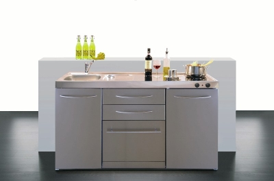 Miniküche MPGSES 150 Glaskochfeld Kühlschrank Geschirrsp