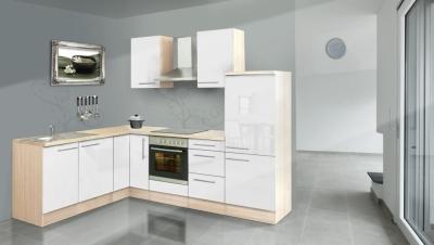 respekta L Küchenzeile RP260AWC 260x200 cm akazie weiss Hochglan