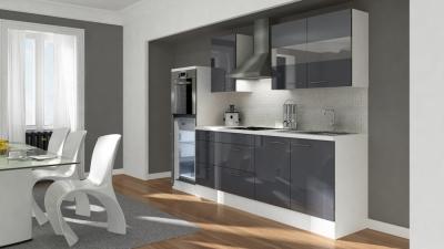 Küchenblock RP270HWG grau hochglanz