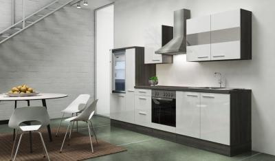 Küchenblock RP300EWC eiche weiss hochglanz