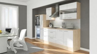 Küchenblock RP300HAW akazie weiss hochglanz