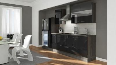 Küchenblock RP300HES eiche schwarz hochglanz