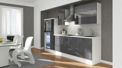 Küchenblock RP300HWG grau hochglanz