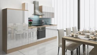 respekta Küchenzeile RP310AWC 310 cm akazie weiss Hochglanz