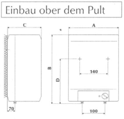 Boiler übertisch 10 Liter Gorenje EKW10OD