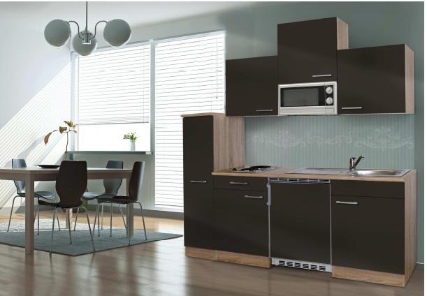 k chenblock 180 kb180esg eiche hell front grau. Black Bedroom Furniture Sets. Home Design Ideas