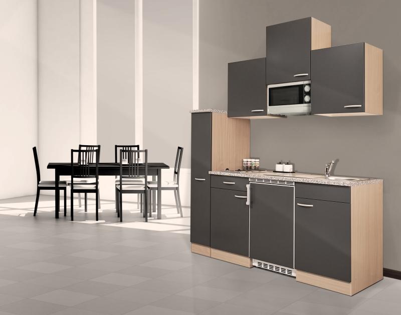 k chenblock 180 kb180bg buche front grau. Black Bedroom Furniture Sets. Home Design Ideas
