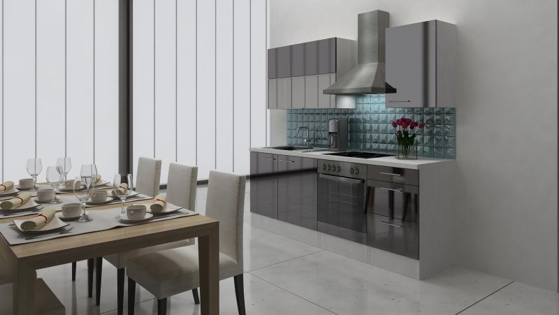 respekta k chenblock rp220wsc hochglanz schwarz ohne k hlschrank. Black Bedroom Furniture Sets. Home Design Ideas