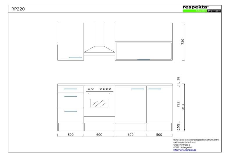 respekta k chenblock rp220awc hochglanz weiss ohne k hlschrank. Black Bedroom Furniture Sets. Home Design Ideas
