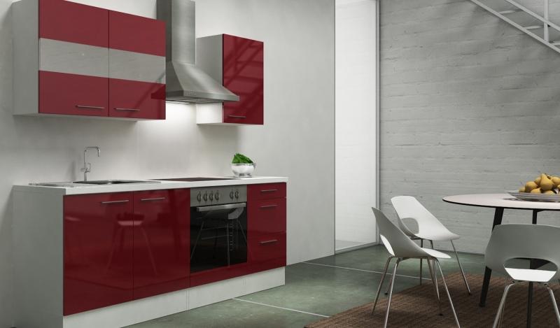 respekta k chenblock rp210wboc hochglanz bordeaux ohne. Black Bedroom Furniture Sets. Home Design Ideas