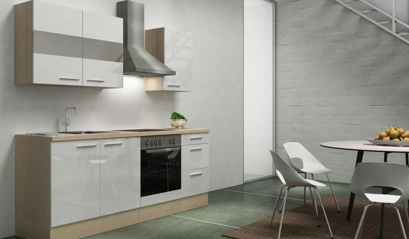 Respekta küchenblock rp awc hochglanz weiss ohne kühlschrank