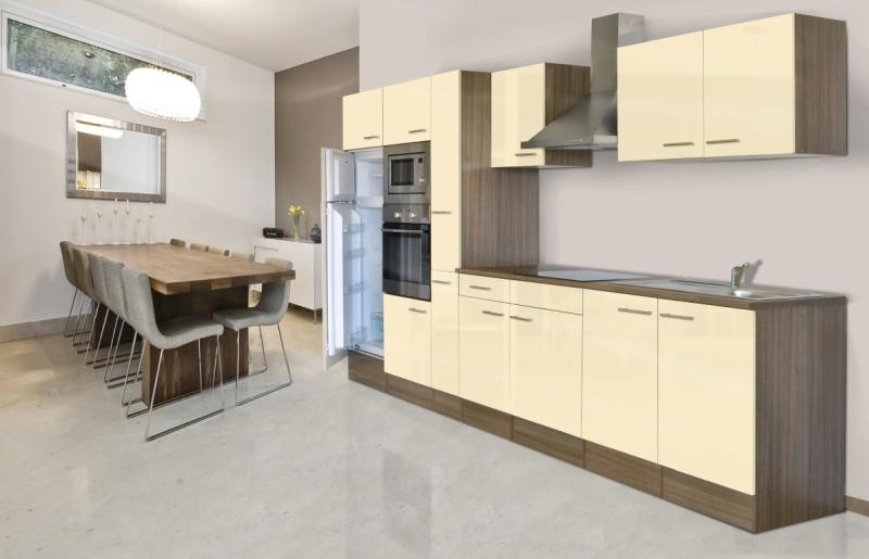 respekta Küchenzeile KB360EYVMIGKE Eiche York Nachbildung Front Dickkante 1,2 mm vanille