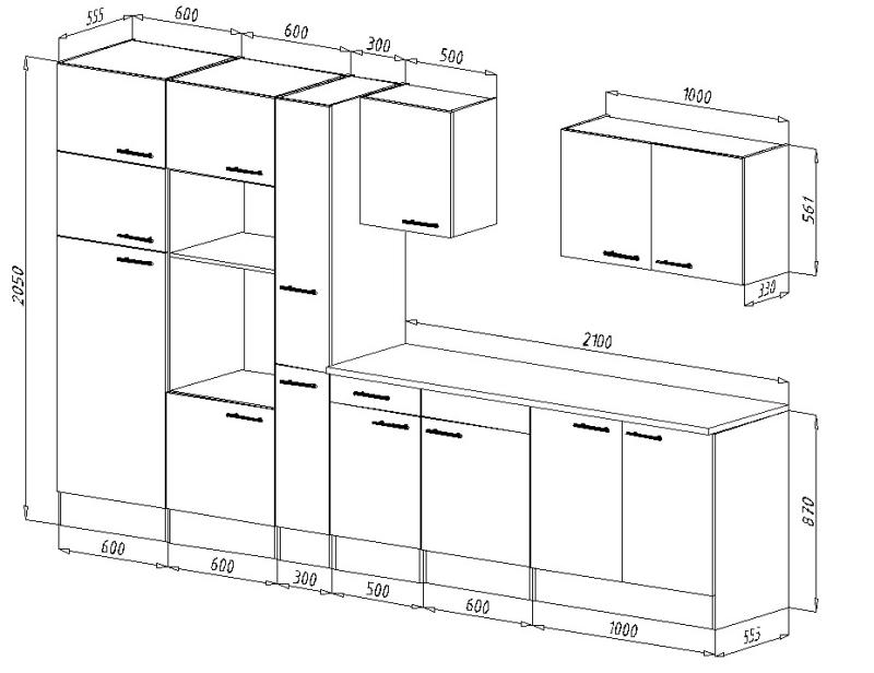 respekta k chenzeile kb360eywmigke eiche york nachbildung. Black Bedroom Furniture Sets. Home Design Ideas