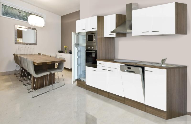 respekta Küchenzeile KB340EYWMIGKE Eiche York Nachbildung - Front ...
