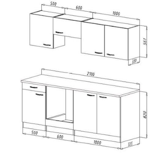 respekta k chenzeile kb210bge grau ohne k hlschrank. Black Bedroom Furniture Sets. Home Design Ideas