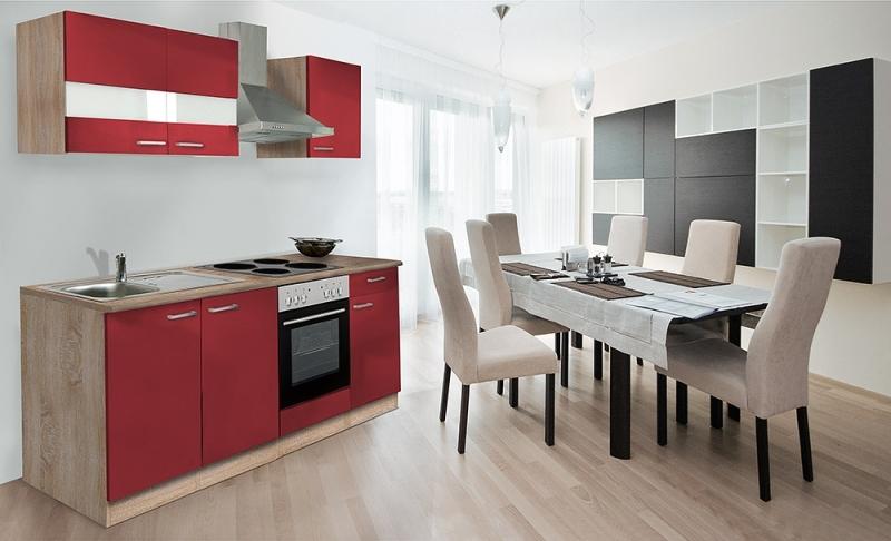 respekta k chenzeile kb210esr rot ohne k hlschrank. Black Bedroom Furniture Sets. Home Design Ideas