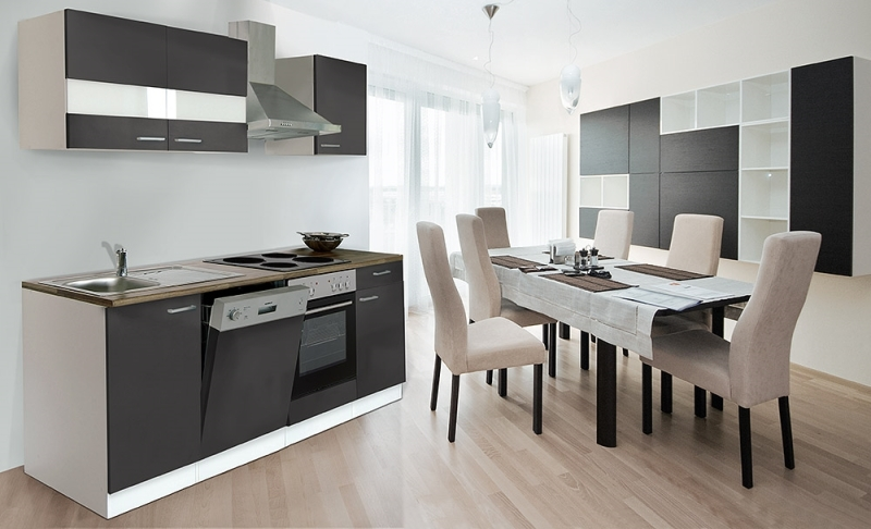 respekta k chenzeile kb220wg grau ohne k hlschrank. Black Bedroom Furniture Sets. Home Design Ideas