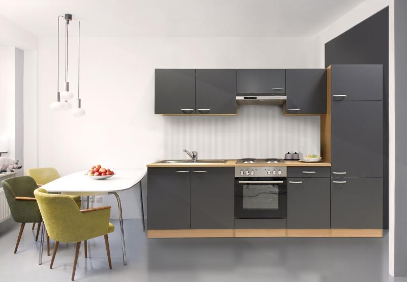 respekta k chenzeile kb270bge grau buche. Black Bedroom Furniture Sets. Home Design Ideas