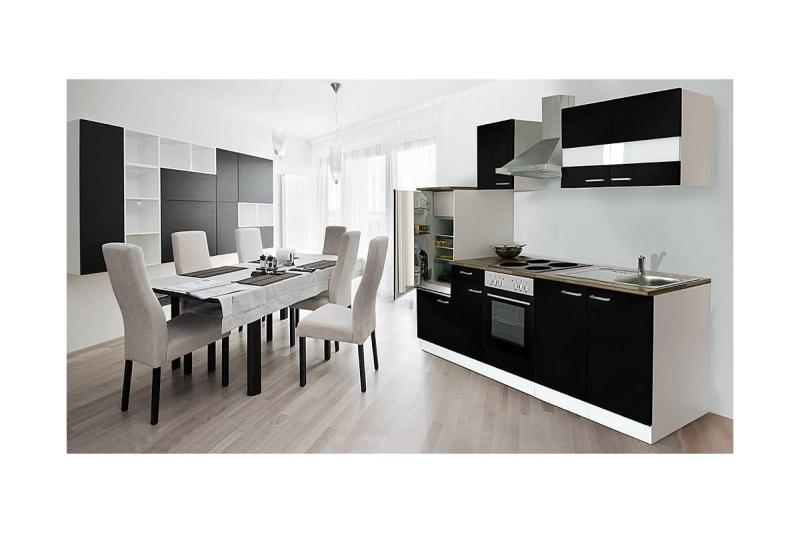 k chenblock k chenzeile 270 schwarz kb270ws. Black Bedroom Furniture Sets. Home Design Ideas