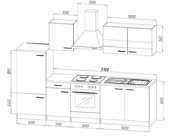 k chenblock k chenzeile weiss eiche kb300esw 3 m breit. Black Bedroom Furniture Sets. Home Design Ideas