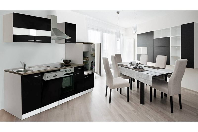 k chenblock k chenzeile 280 schwarz kb280ws. Black Bedroom Furniture Sets. Home Design Ideas