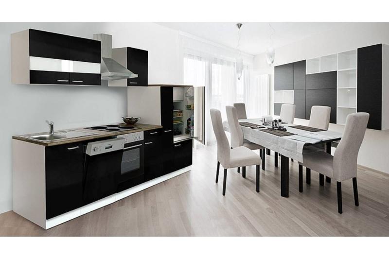k chenblock k chenzeile 310 cm schwarz kb310ws. Black Bedroom Furniture Sets. Home Design Ideas