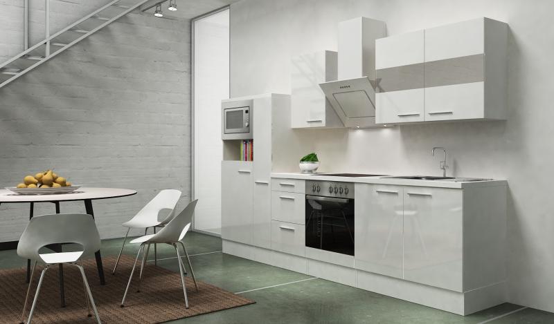 Respekta k chenblock rp300wwcmis hochglanz weiss schr ghaube for Moderne dekorationsartikel