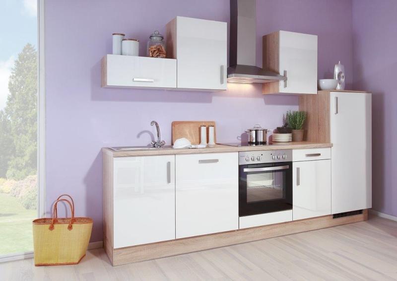 k chenblock k chenzeile 270cm vormontierte k chenm bel inkl e ger te top preis ebay. Black Bedroom Furniture Sets. Home Design Ideas