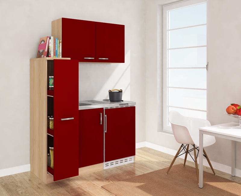 minik che mk130esross rot mit k hlschrank. Black Bedroom Furniture Sets. Home Design Ideas
