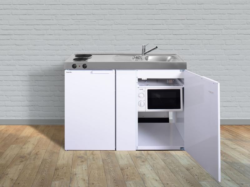 Miniküche Mit Kühlschrank Und Herd 120 Cm : Miniküche mkm e pantry links becken rechts