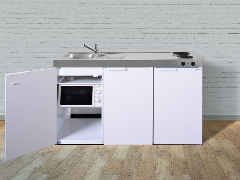 Kleink che mkm 150 e pantry rechts becken links mit mikrowelle for Kleinkuche mit kuhlschrank