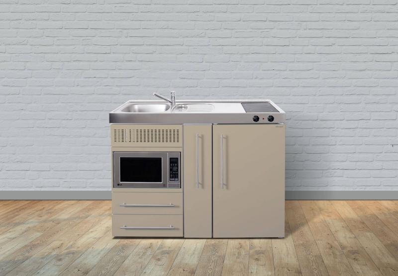 Miniküche Mit Kühlschrank Und Herd 120 Cm : Miniküche mpm a glaskochfeld rechts becken links mikrowelle