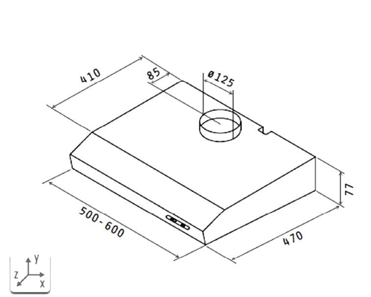 unterbauhaube dh 520wn weiss 50 cm. Black Bedroom Furniture Sets. Home Design Ideas