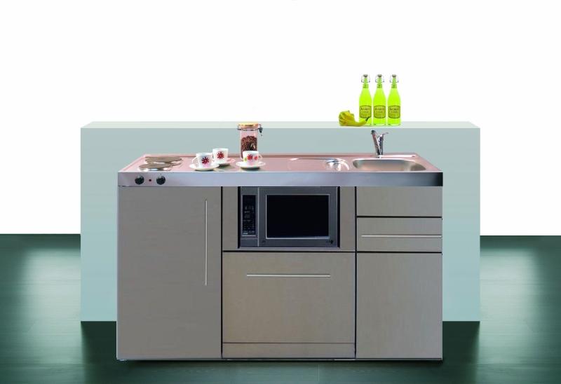 Minikuche mpgsmes 150 glaskochfeld kuhlschrank geschirrspuler for Miniküche günstig