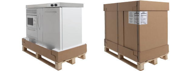 Miniküche mit backofen  Miniküche MKB 100 E Pantry rechts Becken links mit Backofen