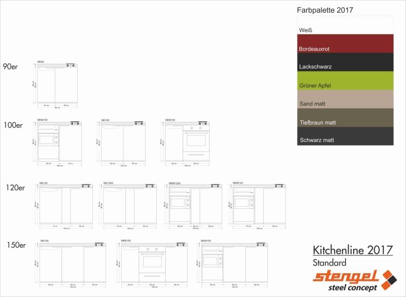 Miniküche 2017  Miniküche MK 90 E-Pantry links Becken rechts