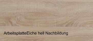 Junior Miniküche Padua 1,80 m Eiche hell Sägerauh | {Arbeitsplatte eiche hell 0}