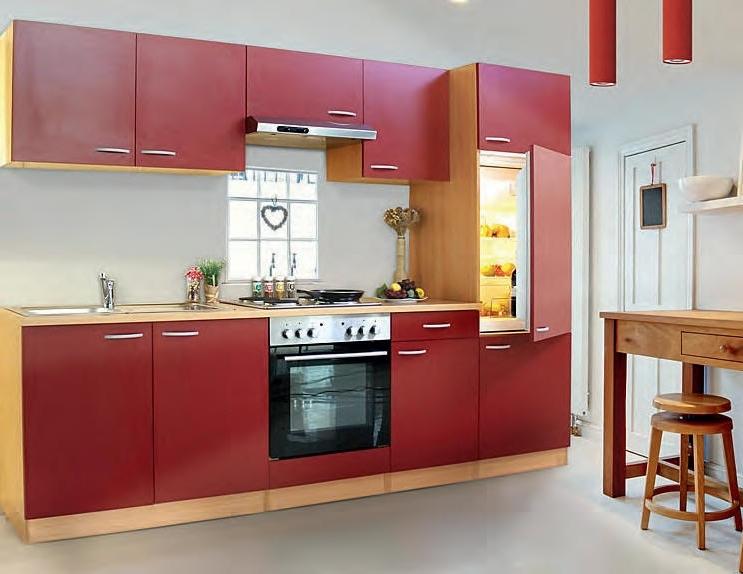 Küchenblock 270 Bordeauxrot LBKB270BR