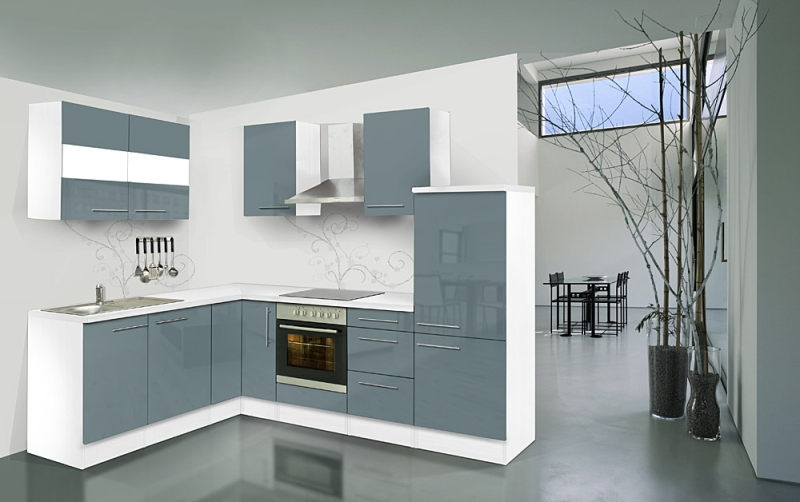 respekta l k chenzeile rp260wgcos 260x200 cm weiss grau hochglan. Black Bedroom Furniture Sets. Home Design Ideas