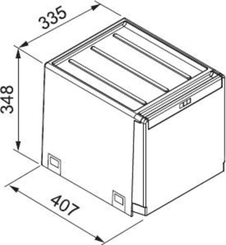 Abfalleimer cube 40 franke einbausystem for Frank dekorationsartikel