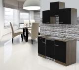 Küchenblock 150 KB150EYS Eiche York Front schwarz