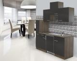 Küchenblock 180 KB180EYG Eiche York Front grau