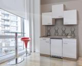 Küchenblock 150 KB150ESW Eiche hell Front weiss