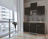 Küchenblock 150 KB150ESG Eiche hell Front grau