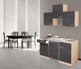 Küchenblock 150 KB150BG Buche Front grau