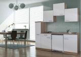 Küchenblock 180 KB180ESW Eiche sonoma Front weiss