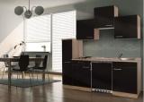 Küchenblock 180 KB180ESS Eiche sonoma Front schwarz