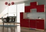 Küchenblock 180 KB180ESR Eiche sonoma Front rot